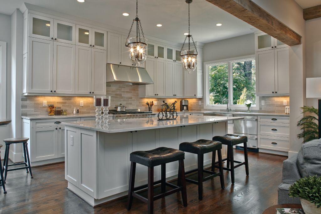 Eider White on kitchen cabinets by Epic Development