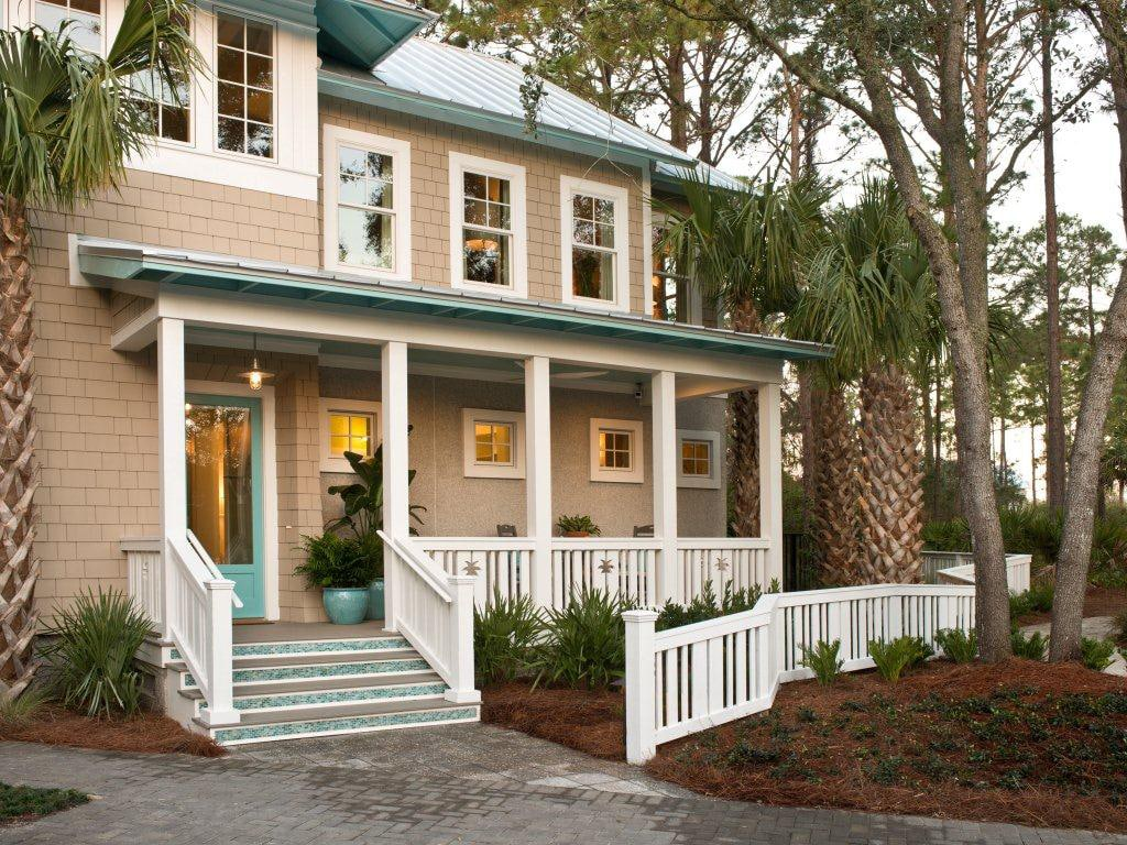 Exterior trim in Extra White from the HGTV Smart Home