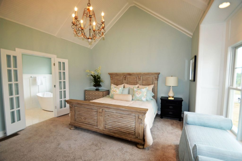 Master bedroom in Rainwashed by Jimmy Nash Homes