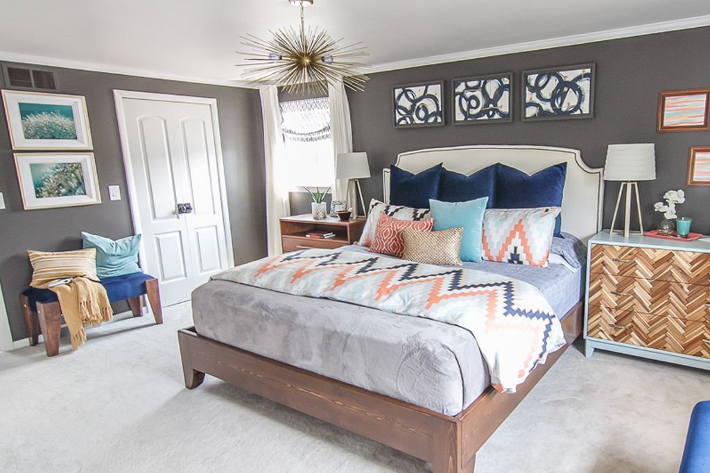 Black Fox on all walls in master bedroom from Pursuit of Handyness Blog