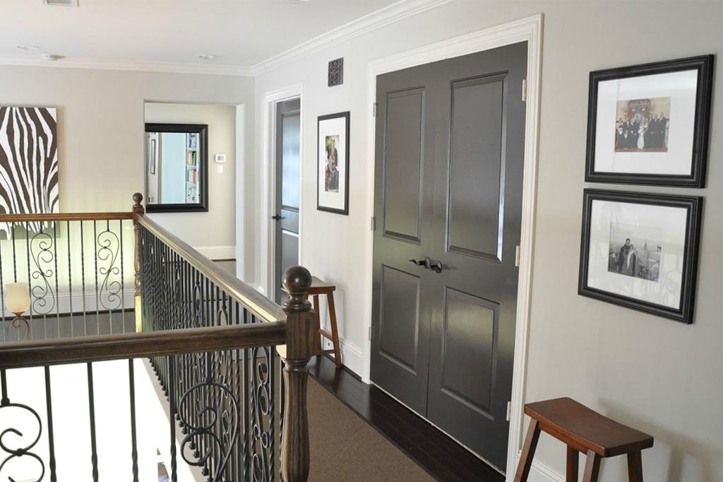 Black Fox on an interior door (and front door) from Honey We're Home Blog