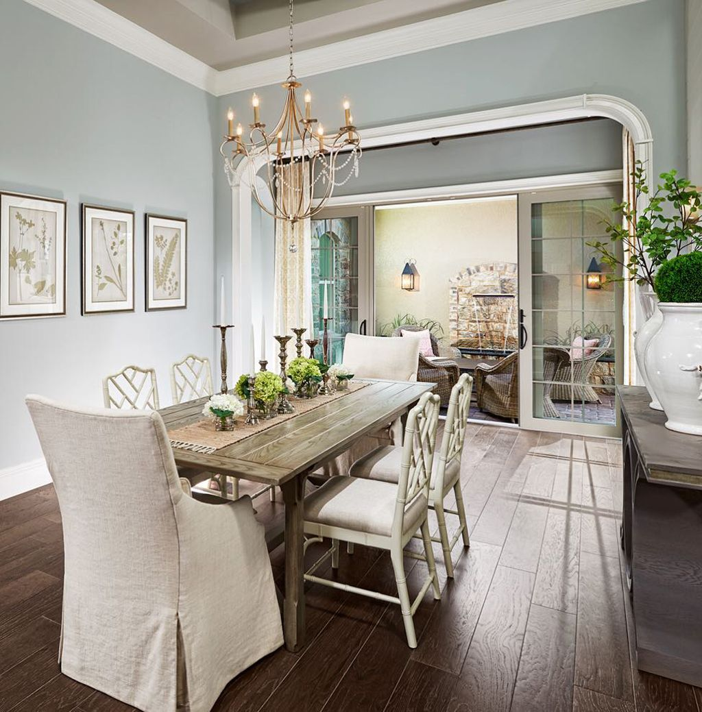 Dining room painted in Silver Strand by Marc-Michaels Interior Design