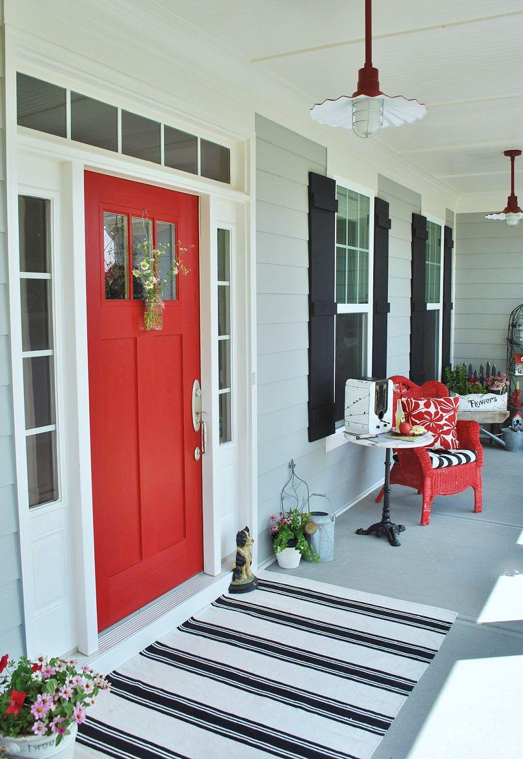 Front door in Positive Red by Sophia's Blog