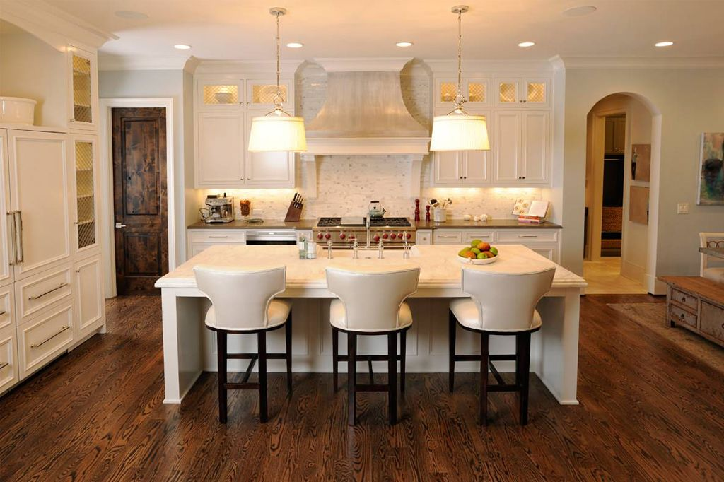 Origami White on kitchen cabinets by Castle Homes