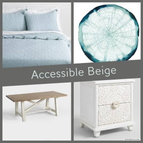 Accessible Beige Mood Board