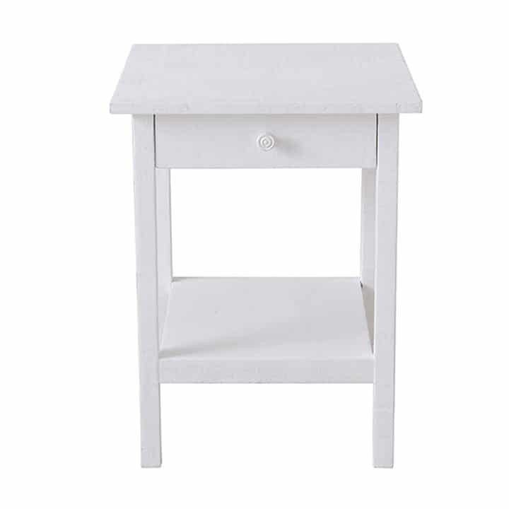 Heathcliff side table in Snow From Rachel Ashwell