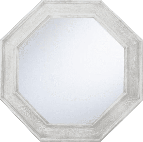 Graywash Octagonal Mirror by World Market