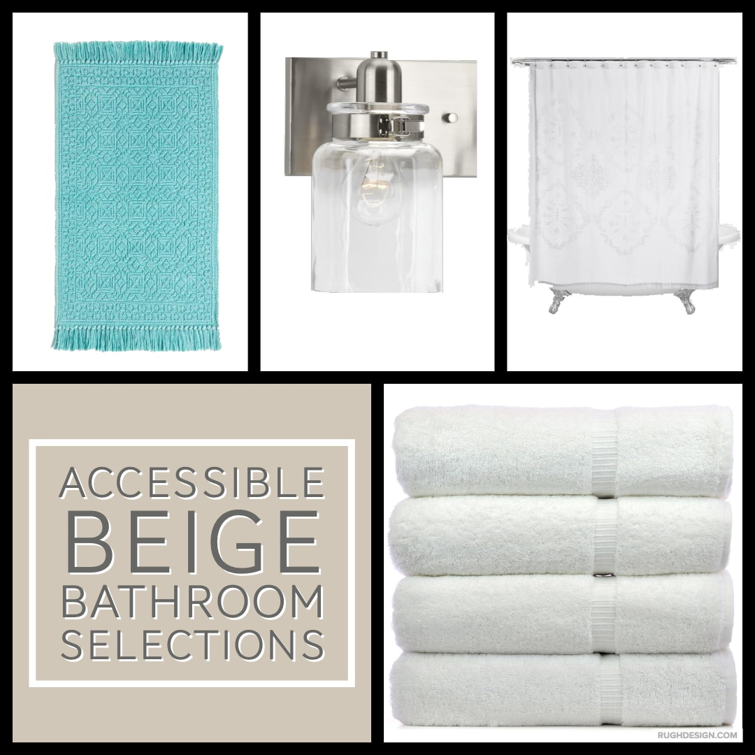 Accessible Beige Bathroom Selections