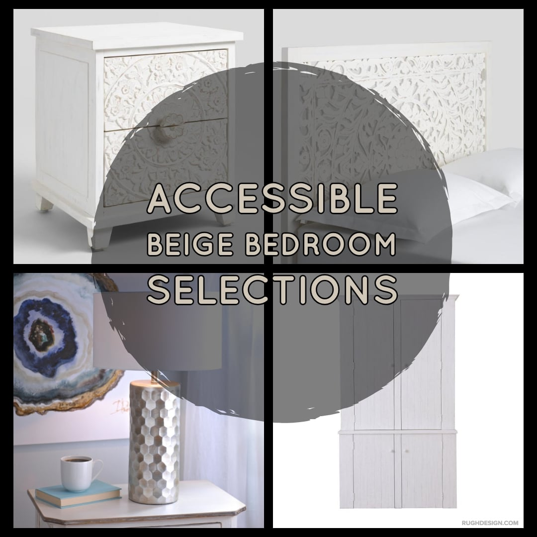 Accessible Beige Bedroom Selections