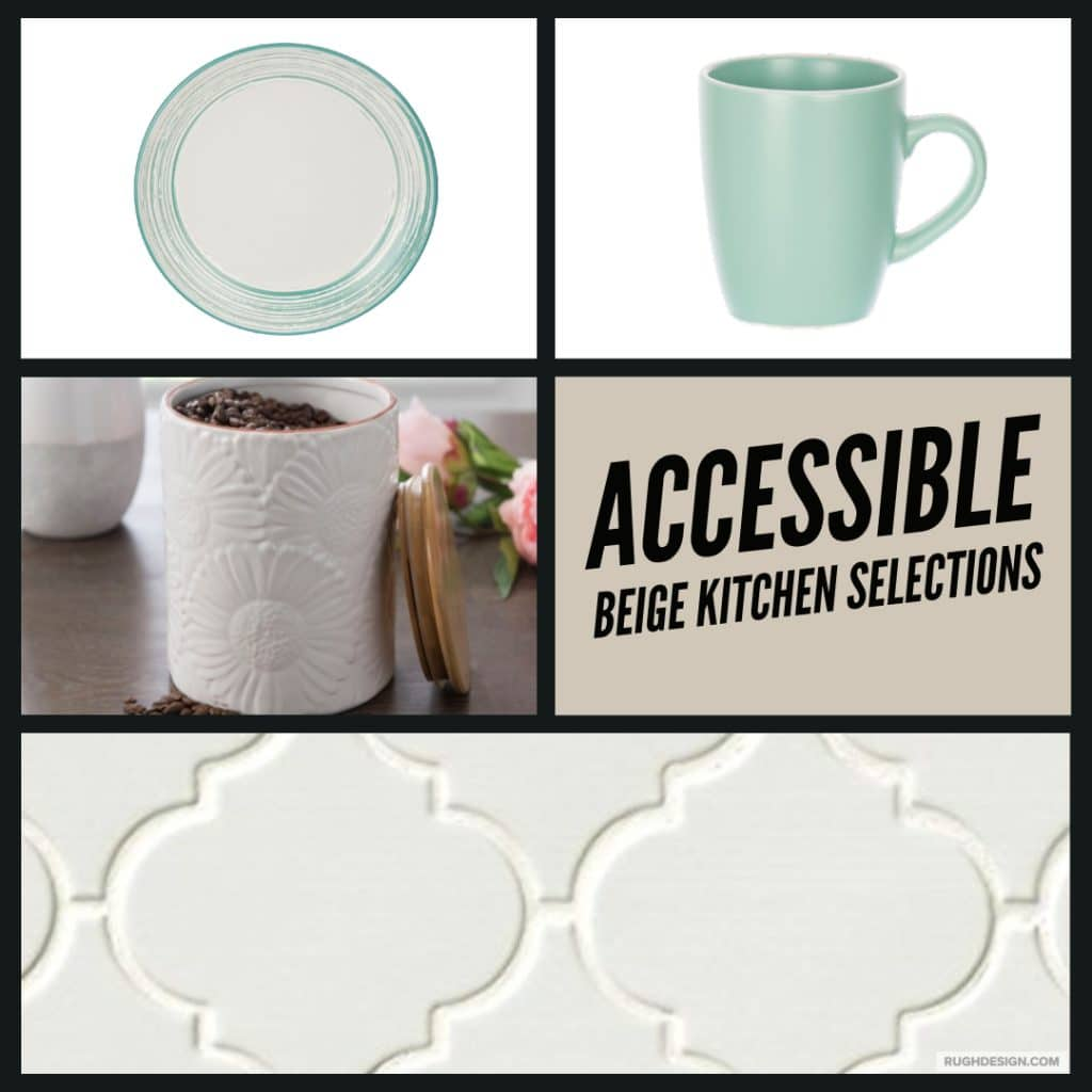 Accessible Beige Kitchen Selections