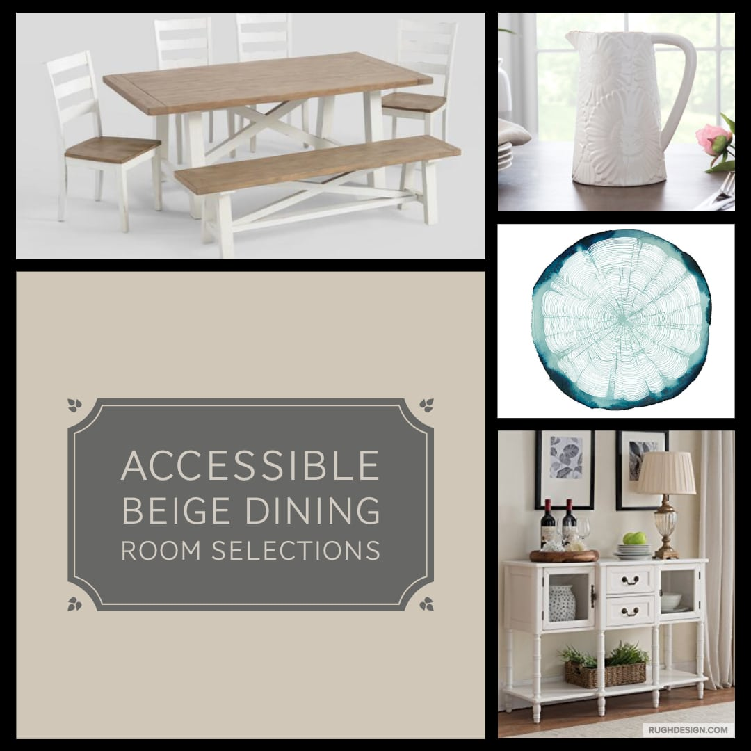 Accessible Beige Dining Room Selections