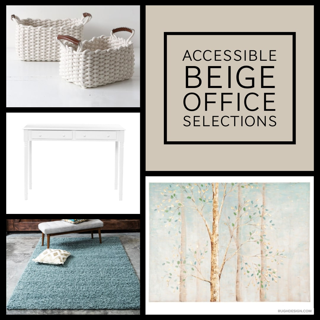 Accessible Beige Office Selections