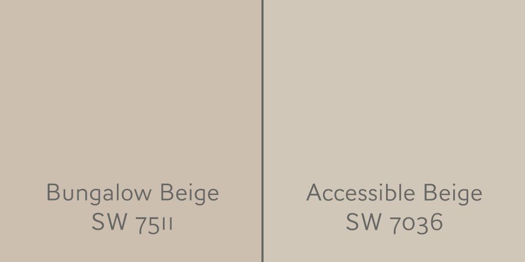 Accessible Beige SW 7036 vs Bungalow Beige SW 7511