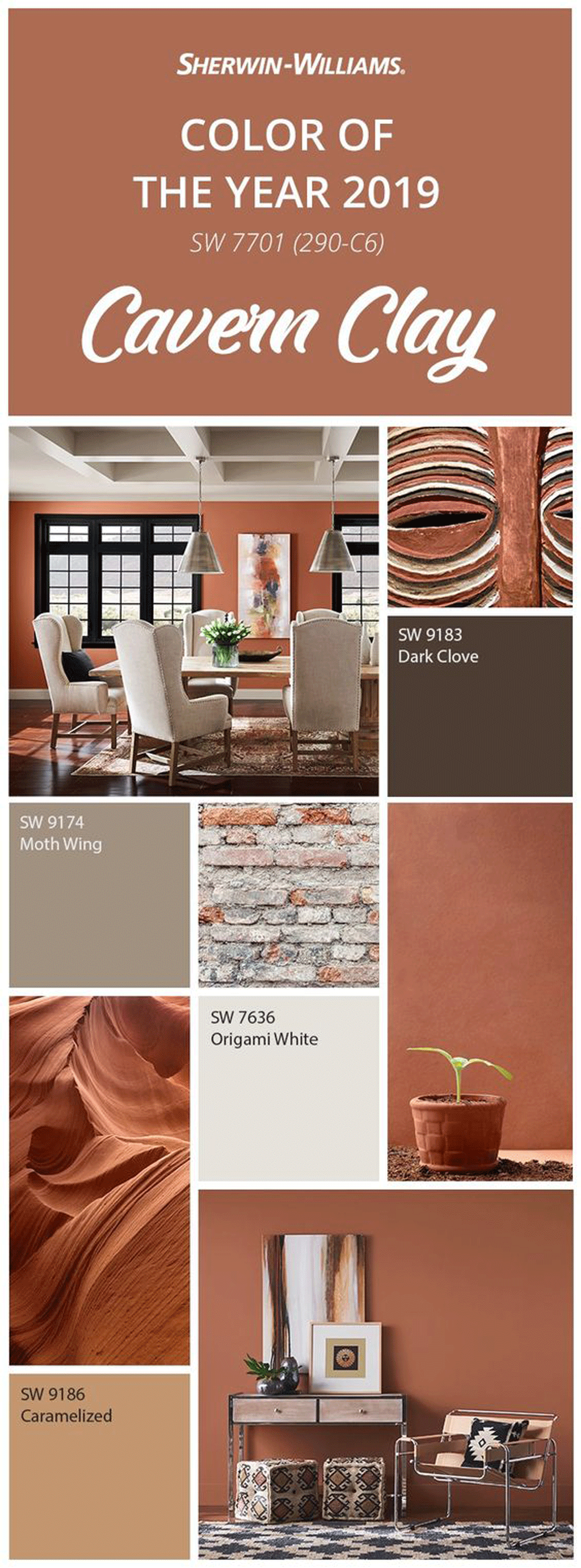 Sherwin-Williams Color of the Year 2019: Cavern Clay SW 7701