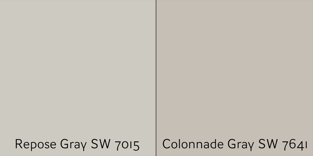 Repose Gray SW 7015 vs Colonnade Gray SW 7641