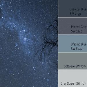 Charcoal Blue Monochromatic Color Scheme
