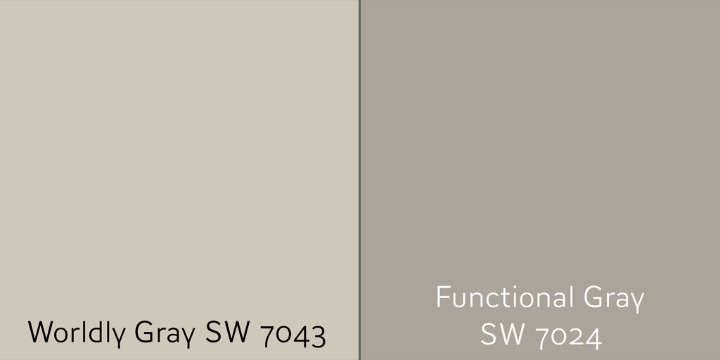 Worldly Gray SW 7043 with Functional Gray SW 7024