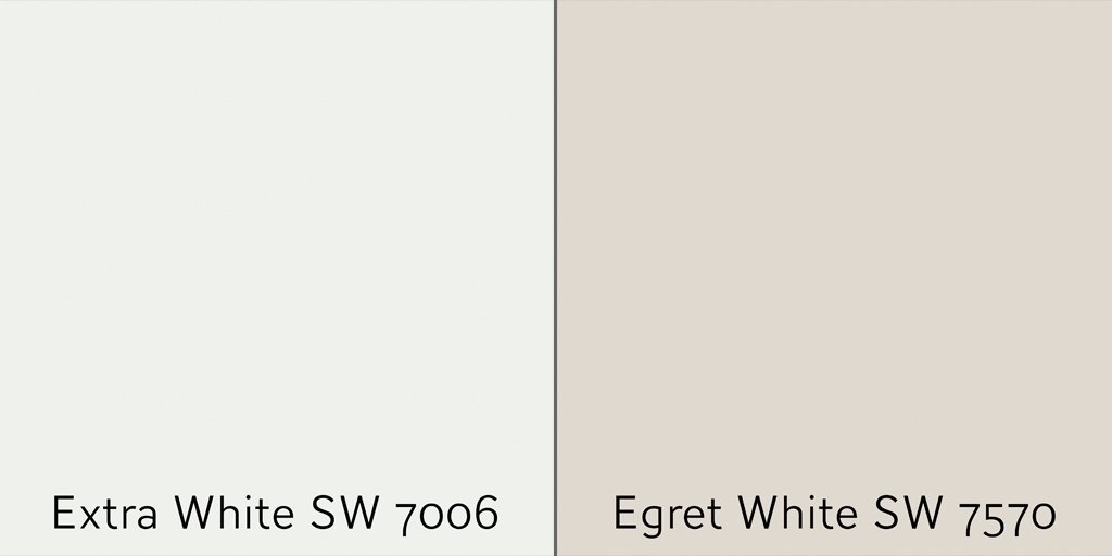 Match Egret White wall with Extra White Trim