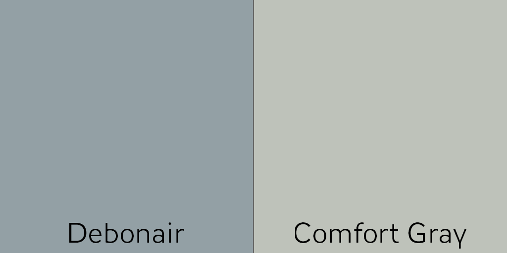 Deboniar and Comfort Gray make a great Analogous Color Scheme
