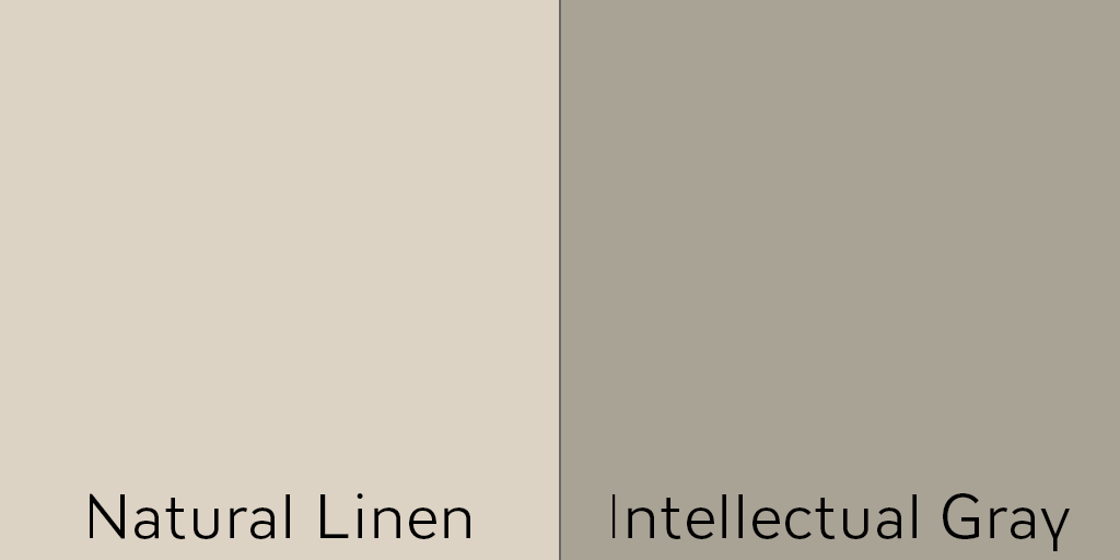 Try Natural Linen as the main exterior color with Intellectual Gray shutter