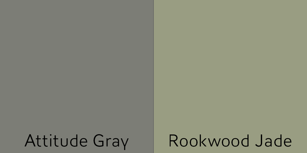Use Attitude Gray or Rookwood Jade as a front door color with brick exterior