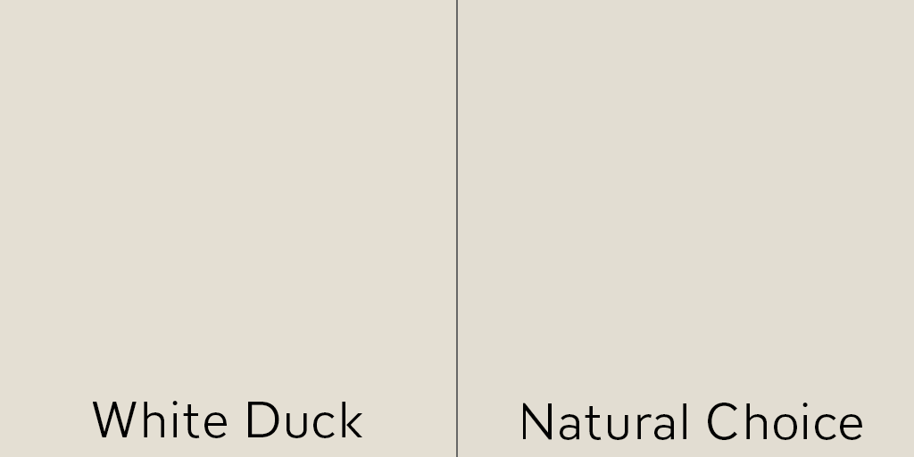 White Duck and Natural Choice being very similar