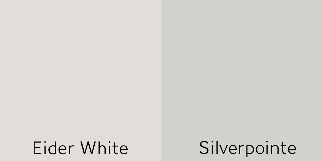 eider white vs silverpointe - Hey Laura! What is the best white for my ceilings?