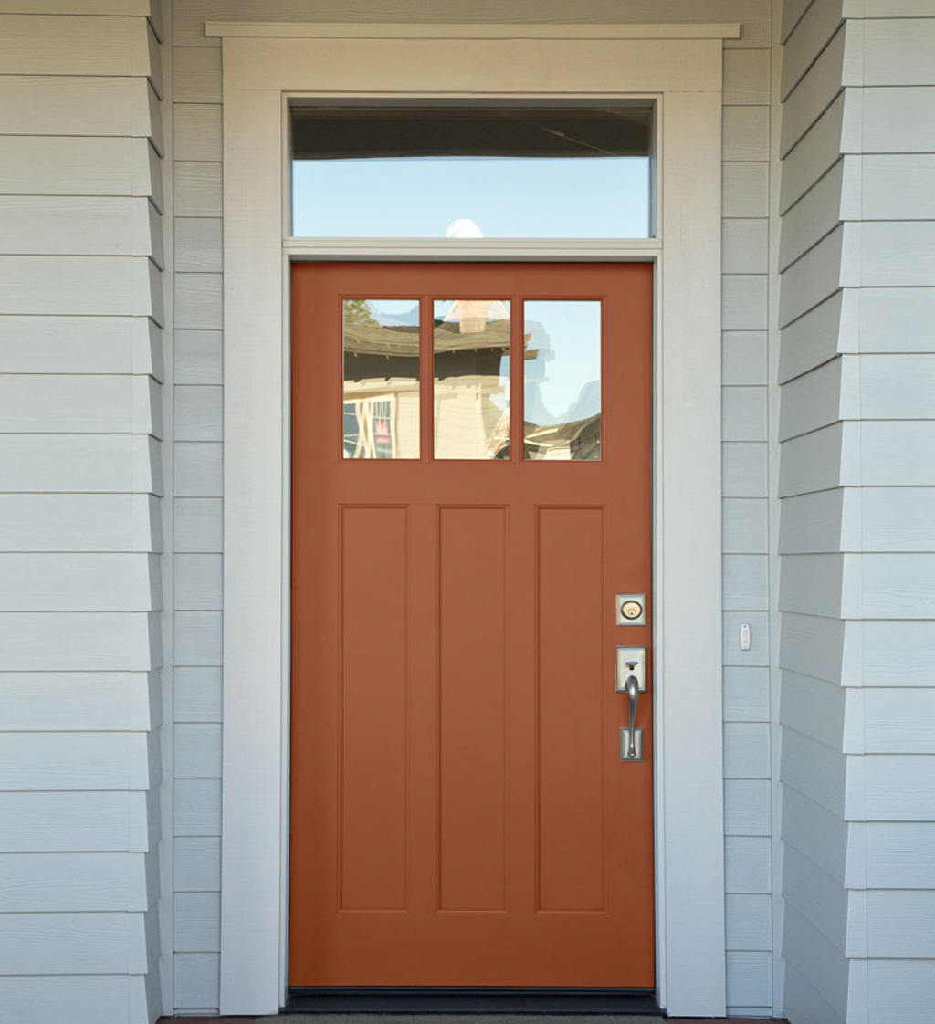 Front Door painted inCavern Clay by Sherwin-Williams