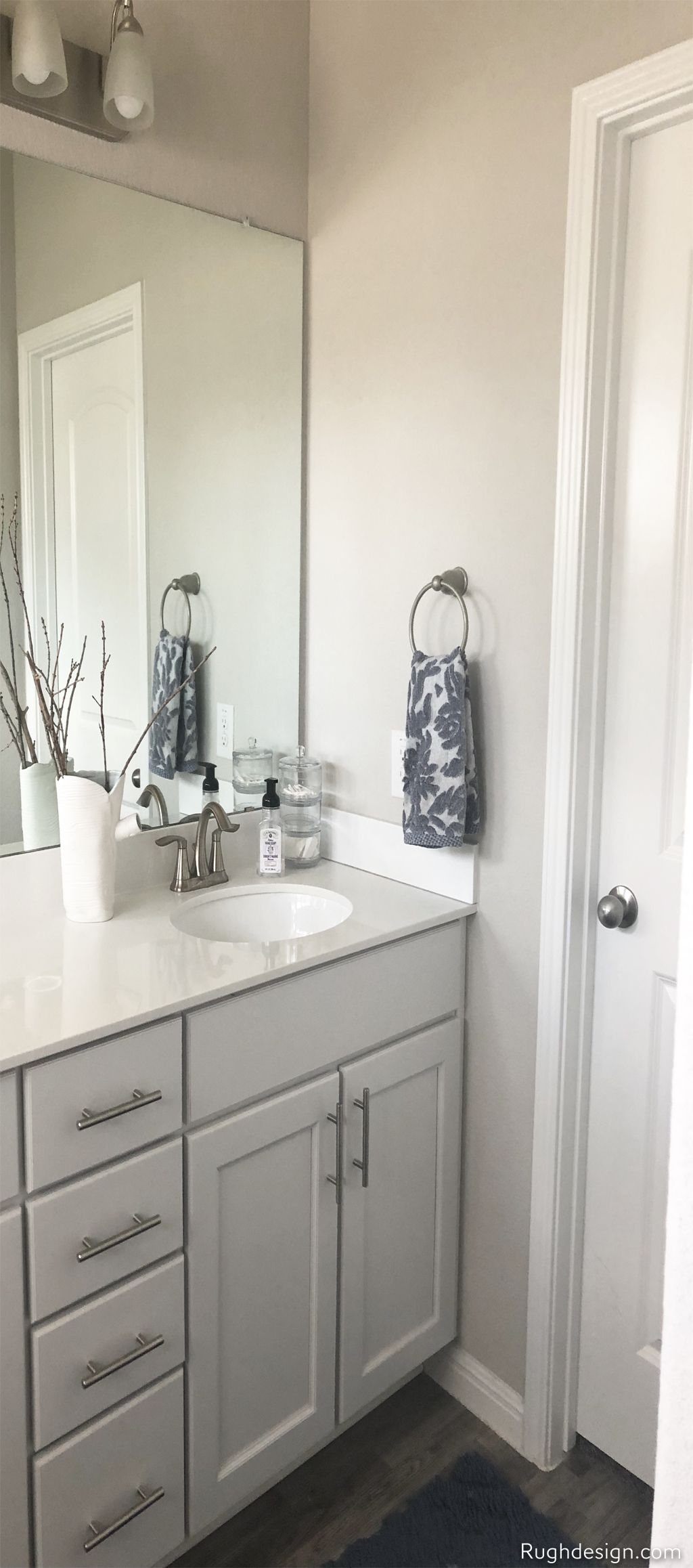 Agreeable Gray in my bathroom