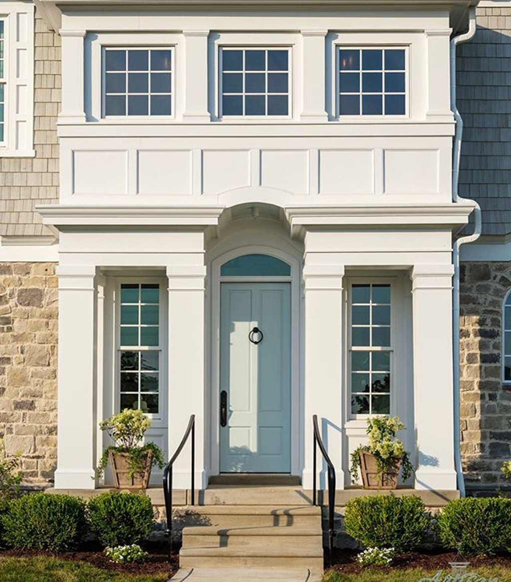 Front Door painted Tradewind by Artisan Signature Homes - Tradewind Color Review