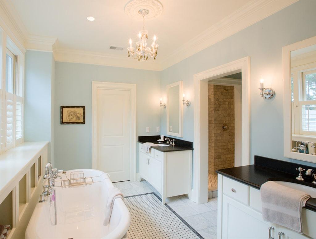 Tradewind in a bathroom by WaterMark Coastal Homes LLC