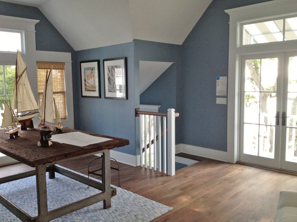 Smoky Blue in an office by Our Town Plans 2013 Coastal Living Showcase Garage.