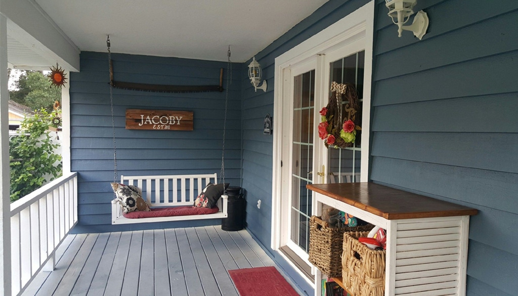 Smoky Blue porch from Laura Smith Jacoby.