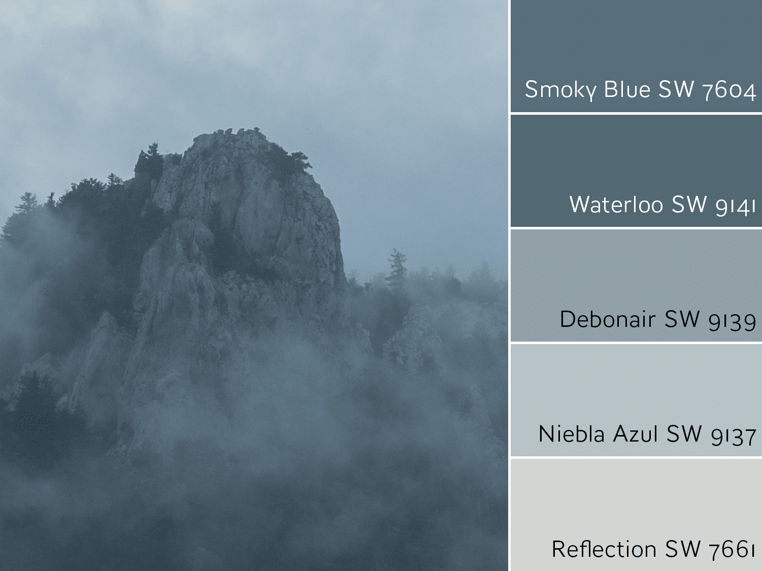 Smoky Blue Monochromatic Color Scheme