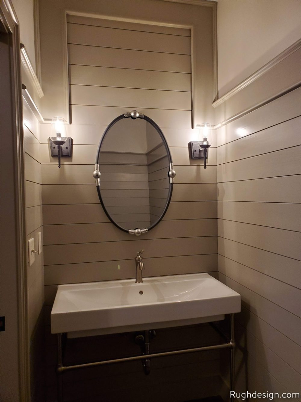 Worldly Gray SW 7043 used in a bathroom