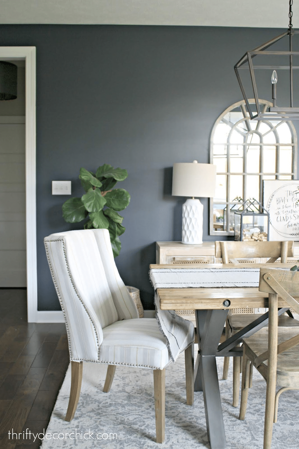 Cyberspace in dining room by Thrifty Decor Chick