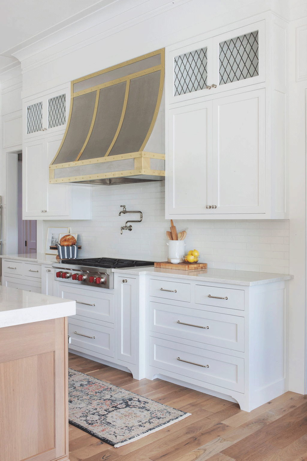 Chantilly Lace on Kitchen Cabinets + Trim by Scout Nimble