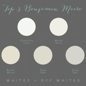 Top 5 Benjamin Moore Whites