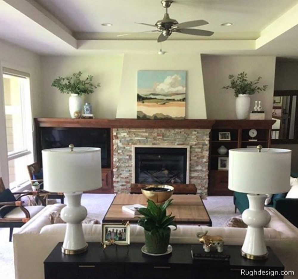 Shoji White SW 7042 in the Livingroom