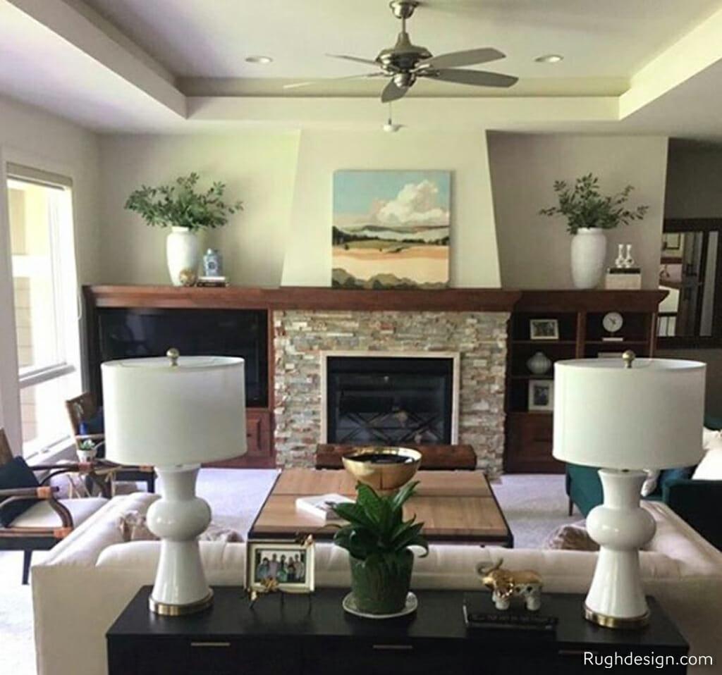 Sherwin-Williams Shoji White SW 7042 in the Livingroom