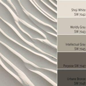 Shoji White SW 7042 Monochromatic Color Scheme