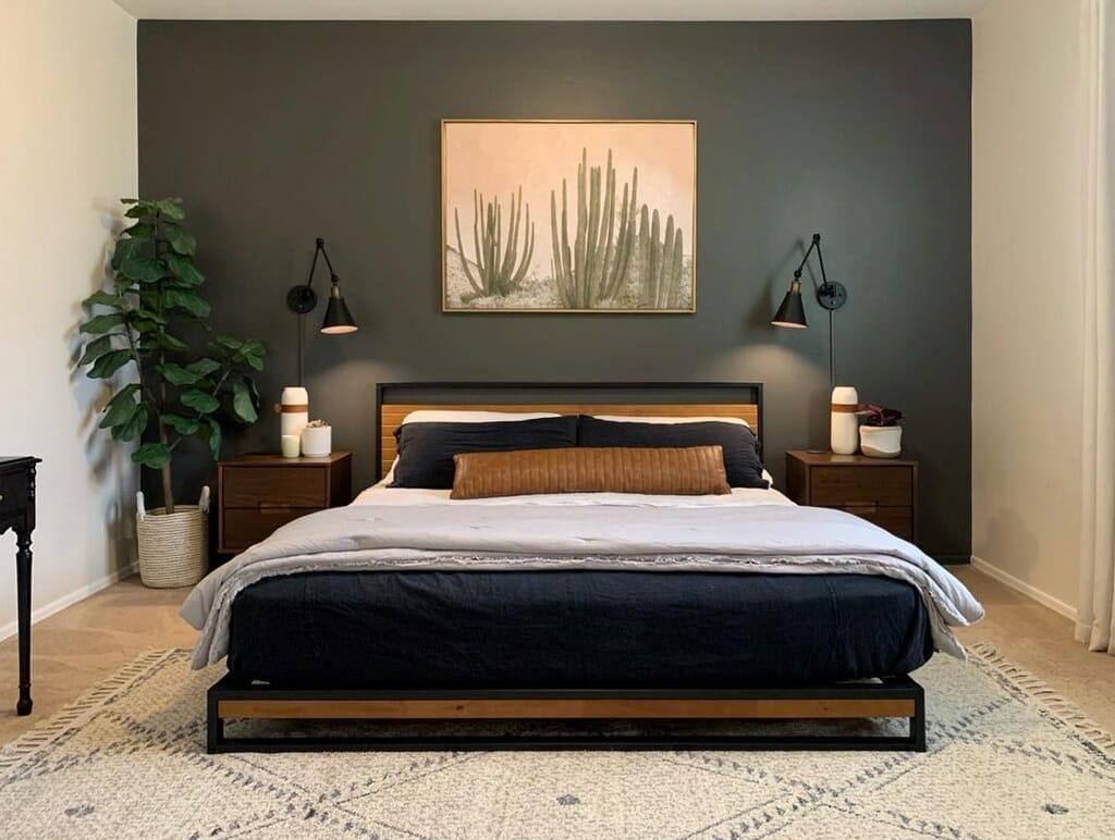 Sherwin-Williams Shoji White in a bedroom by Jen Levine